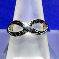Infinity Ring with Sapphires