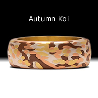Autumn Koi- 18k yellow gold, 14k red gold, fine silver, copper