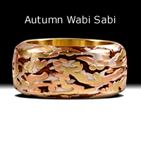Autumn Wabi Sabi- 18k yellow gold, 14k red gold, fine silver, copper