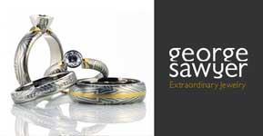 Mokume Gane Jewelry by George Sawyer at Willow Glen Diamond Company
